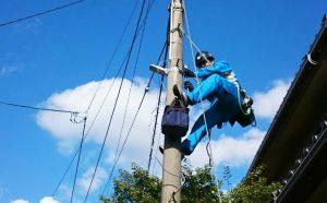 防犯灯の増設工事